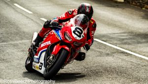 Guy martin during practice on his superbike. at the Isle Of Man TT